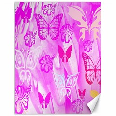 Butterfly Cut Out Pattern Colorful Colors Canvas 18  X 24   by Simbadda