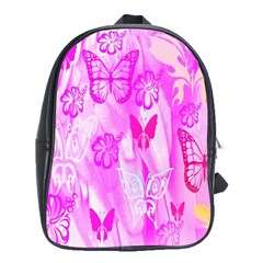 Butterfly Cut Out Pattern Colorful Colors School Bags(large)  by Simbadda