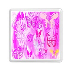 Butterfly Cut Out Pattern Colorful Colors Memory Card Reader (square)  by Simbadda