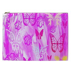 Butterfly Cut Out Pattern Colorful Colors Cosmetic Bag (xxl)  by Simbadda