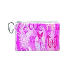 Butterfly Cut Out Pattern Colorful Colors Canvas Cosmetic Bag (s) by Simbadda