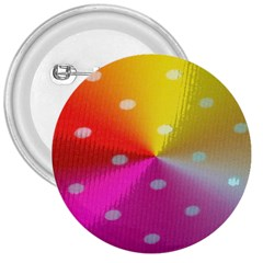 Polka Dots Pattern Colorful Colors 3  Buttons by Simbadda