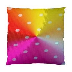 Polka Dots Pattern Colorful Colors Standard Cushion Case (one Side) by Simbadda