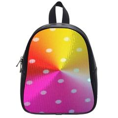 Polka Dots Pattern Colorful Colors School Bags (small)  by Simbadda