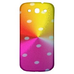 Polka Dots Pattern Colorful Colors Samsung Galaxy S3 S Iii Classic Hardshell Back Case by Simbadda