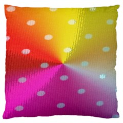 Polka Dots Pattern Colorful Colors Large Flano Cushion Case (one Side) by Simbadda