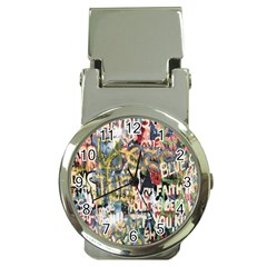 Graffiti Wall Pattern Background Money Clip Watches by Simbadda