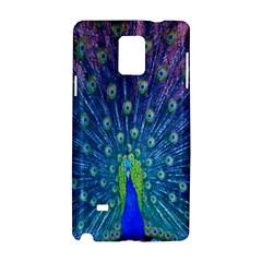Amazing Peacock Samsung Galaxy Note 4 Hardshell Case by Simbadda