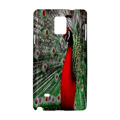 Red Peacock Samsung Galaxy Note 4 Hardshell Case by Simbadda