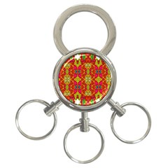 Abstract Background Design With Doodle Hearts 3 Ring Key Chains by Simbadda