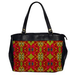 Abstract Background Design With Doodle Hearts Office Handbags by Simbadda