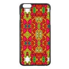 Abstract Background Design With Doodle Hearts Apple Iphone 6 Plus/6s Plus Black Enamel Case by Simbadda