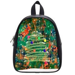 Watercolour Christmas Tree Painting School Bags (small)  by Simbadda