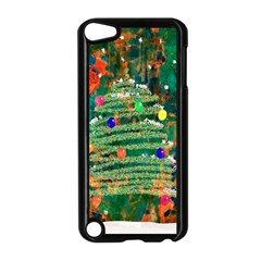 Watercolour Christmas Tree Painting Apple Ipod Touch 5 Case (black) by Simbadda
