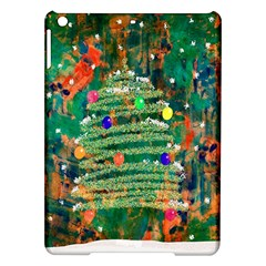 Watercolour Christmas Tree Painting Ipad Air Hardshell Cases by Simbadda
