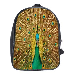 Peacock Bird Feathers School Bags(large)  by Simbadda