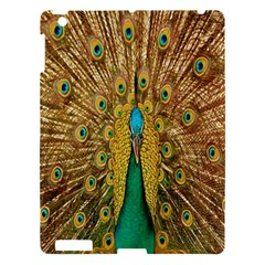 Peacock Bird Feathers Apple Ipad 3/4 Hardshell Case by Simbadda