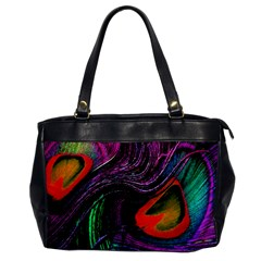 Peacock Feather Rainbow Office Handbags by Simbadda