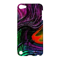 Peacock Feather Rainbow Apple Ipod Touch 5 Hardshell Case by Simbadda
