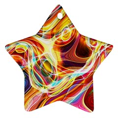 Colourful Abstract Background Design Star Ornament (two Sides) by Simbadda