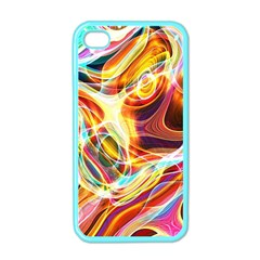 Colourful Abstract Background Design Apple Iphone 4 Case (color) by Simbadda