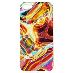 Colourful Abstract Background Design Apple Iphone 5 Hardshell Case by Simbadda