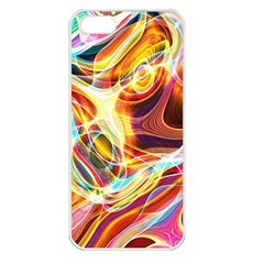 Colourful Abstract Background Design Apple Iphone 5 Seamless Case (white) by Simbadda