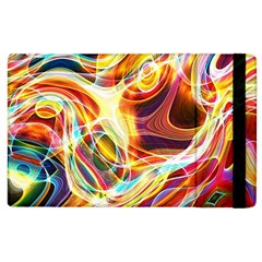 Colourful Abstract Background Design Apple Ipad 3/4 Flip Case by Simbadda