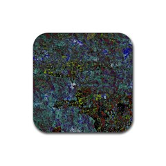 Stone Paints Texture Pattern Rubber Square Coaster (4 Pack)  by Simbadda