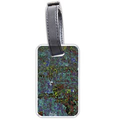 Stone Paints Texture Pattern Luggage Tags (one Side)  by Simbadda