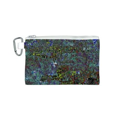 Stone Paints Texture Pattern Canvas Cosmetic Bag (s) by Simbadda