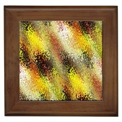 Multi Colored Seamless Abstract Background Framed Tiles by Simbadda