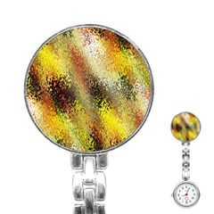 Multi Colored Seamless Abstract Background Stainless Steel Nurses Watch
