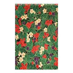Berries And Leaves Shower Curtain 48  X 72  (small)  by Simbadda