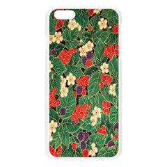 Berries And Leaves Apple Seamless iPhone 6 Plus/6S Plus Case (Transparent) by Simbadda