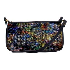 Multi Color Peacock Feathers Shoulder Clutch Bags by Simbadda