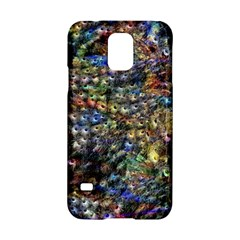 Multi Color Peacock Feathers Samsung Galaxy S5 Hardshell Case  by Simbadda