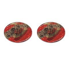 Red Gold Black Background Cufflinks (oval) by Simbadda