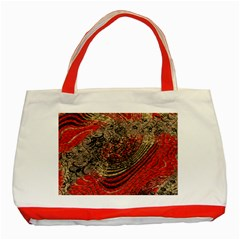 Red Gold Black Background Classic Tote Bag (Red)