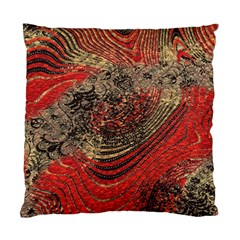Red Gold Black Background Standard Cushion Case (one Side) by Simbadda