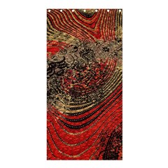 Red Gold Black Background Shower Curtain 36  X 72  (stall)  by Simbadda