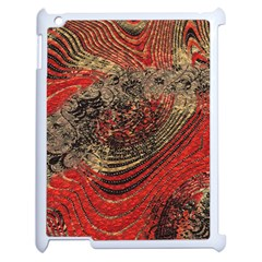 Red Gold Black Background Apple Ipad 2 Case (white) by Simbadda