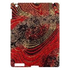 Red Gold Black Background Apple Ipad 3/4 Hardshell Case by Simbadda