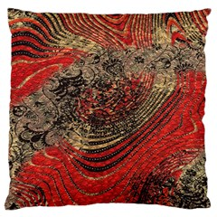 Red Gold Black Background Large Cushion Case (two Sides) by Simbadda