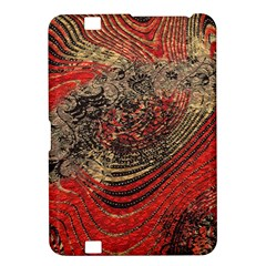 Red Gold Black Background Kindle Fire Hd 8 9  by Simbadda