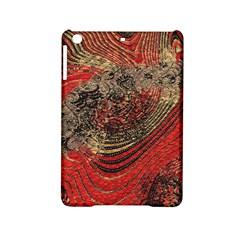 Red Gold Black Background Ipad Mini 2 Hardshell Cases by Simbadda
