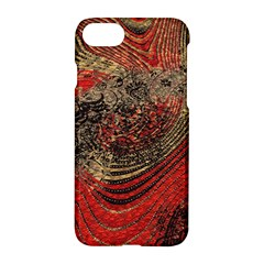 Red Gold Black Background Apple Iphone 7 Hardshell Case by Simbadda