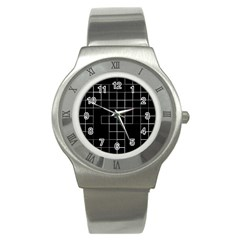 Abstract Clutter Stainless Steel Watch by Simbadda