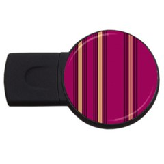 Stripes Background Wallpaper In Purple Maroon And Gold Usb Flash Drive Round (2 Gb) by Simbadda