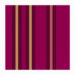 Stripes Background Wallpaper In Purple Maroon And Gold Medium Glasses Cloth (2 Side) by Simbadda